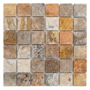 Scabos Tumbled Travertine Mosaics