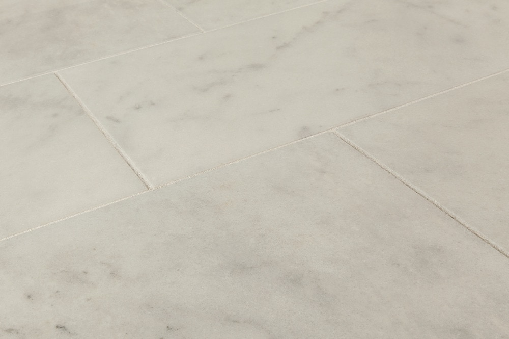 carrara white marble tiles 12x24 angle view