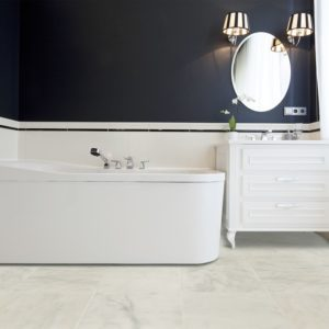 carrara white marble tiles batroom roomscene view.jpg