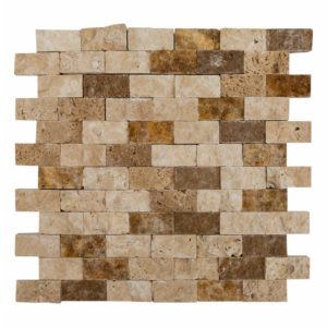 noce beige gold splitface travertine mosaics