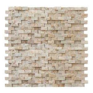 20012408 3d splitface travertine mosaics 1x2 top profile www.thulahome.com