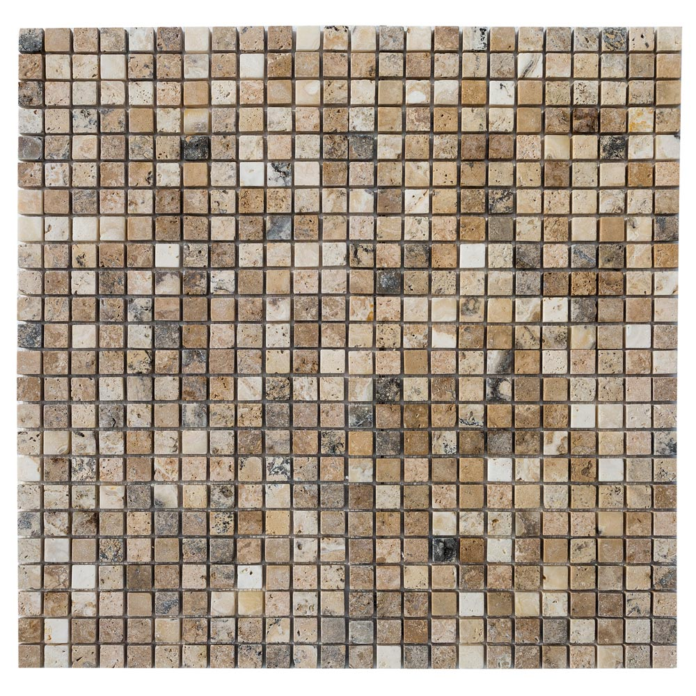 philadelphia_tumbled_travertine_mosaic_tile_1x1_www.thulahome.com_multi_top_view_9037
