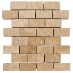 Ivory Tumbled Travertine Pavers