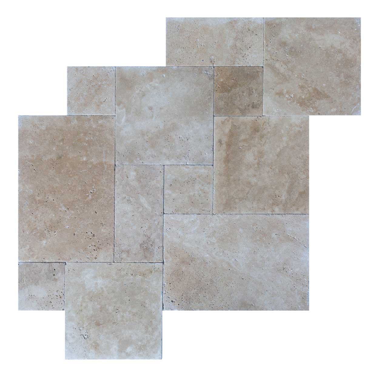 Clic Light Antique Pattern Travertine Tiles