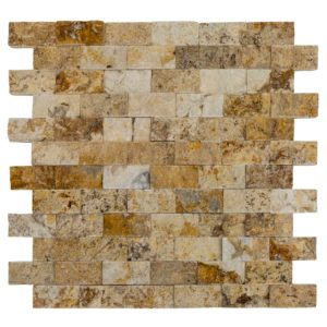 valencia split face travertine mosaics
