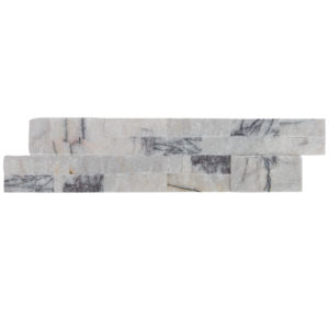 split face lilac marble stacked stone ledger panel model b