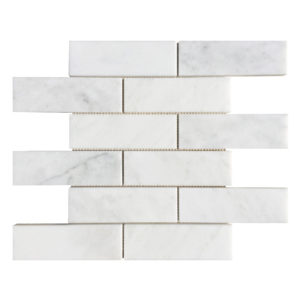 20012466-carrara-white-polished-brick-marble-mosaics-2x6-top-single-profile-www.thulahome.com