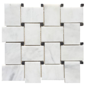 20012467-carrara-white-polished-marble-mosaics-2x4-basketweave-top-profile-www.thulahome.com