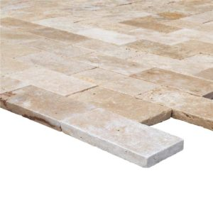 6x12-travertine-pavers-beige-tumbled-angle-profile