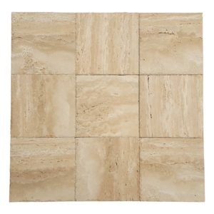 20020075-denizli-beige-vein-cut-travertine-pavers-honed-chiseled-12x12-multi-top-view-www.thulahome.com