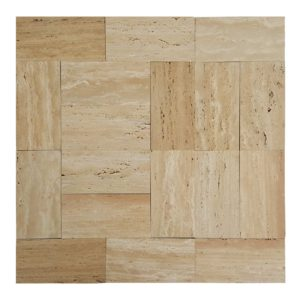 20020076-denizli-beige-vein-cut-travertine-pavers- 6x12-honed-straight-multi-top-view-www.thulahome.com