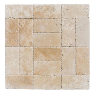 classic light travertine pavers