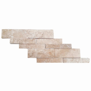 split face classic travertine stacked stone ledger panel