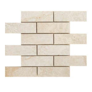 20012420-romano-travertine-mosaics-brushed-filled-2x6-top-piece-profile-www.thulahome.com