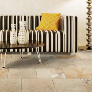 50071429-Mina-Rustic Travertine-Tile-Honed-and-Filled3-with-sofa