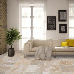 50071429-Mina-Rustic Travertine-Tile-Honed-and-Filled-sofa and tree