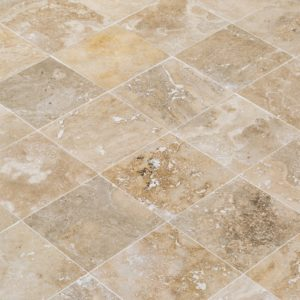 Mina Rustic Travertine 18x18 Honed-Filled