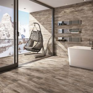 ANK286-Lavin Glazed Porcelain Tile 6x36 tile Matte Brown Tile-mountain-room-view