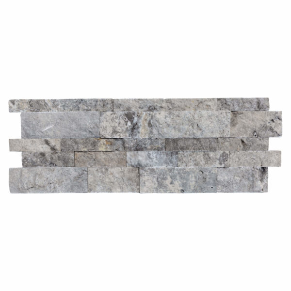 10107183-Silver Travertine Stacked Stone Ledger Panel-single-view-piece