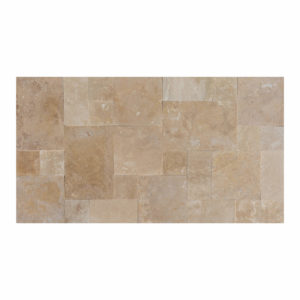20071439-Denizli-Beige-French-Pattern-Travertine-Tile-Filled-Brushed-Straight-Edge-Multi-Top-View-2S3A3717