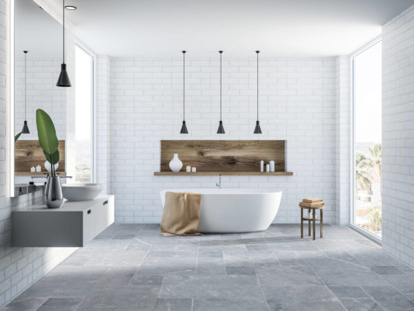 40040106-Bluestone-French-Pattern-Marble-Tile-Brushed-Soft-Edge-bathroom-view-2S3A3764-01